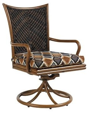 Island Estate Lanai Swivel Rocker Outdoor Dining Chair, Patio Furniture traditional-rocking-chairs