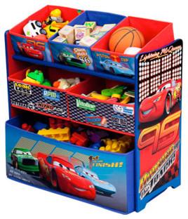 Disney Cars Multi-Bin Toy Organizer - Contemporary - Toy Organizers - by Walmart