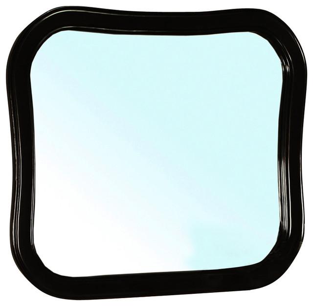 modern black bathroom mirrors visconti black bathroom vanity mirror contemporary. Black Bedroom Furniture Sets. Home Design Ideas