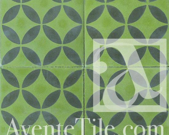 "Geometric Geo 10 Cement Tile 8"" x 8"" -"