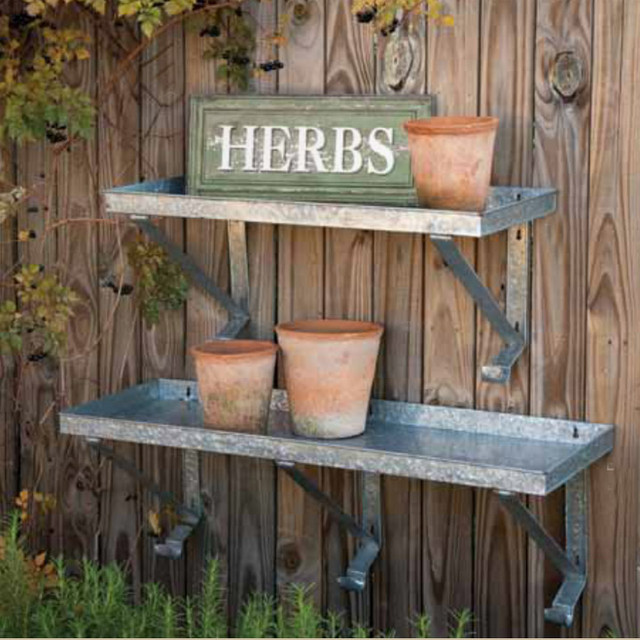 ... Metal Shelf - Eclectic - Outdoor Products - atlanta - by Iron Accents