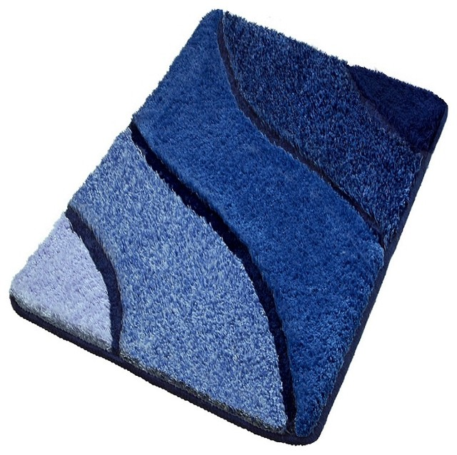 Luxury Bathroom Rugs - Blue Bath Rugs, Extra Large - Contemporary - Bath Mats - other metro - by ...