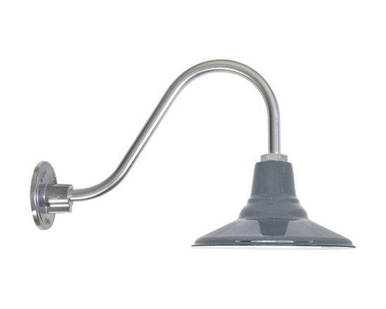 Goodrich® Aero Porcelain Gooseneck Light -