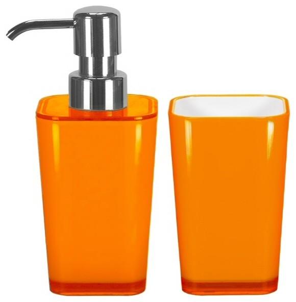Orange bathroom accessories crowdbuild for for Bathroom accessories orange