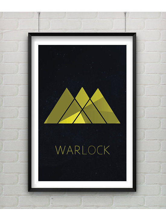 Destiny Video Game Art, Warlock Class Symbol by Captain's Print Shop -