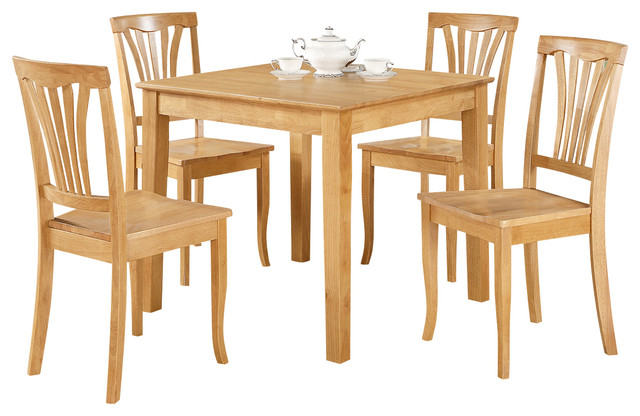 5 Piece Small Kitchen Table And Chairs Set -Square Table ...