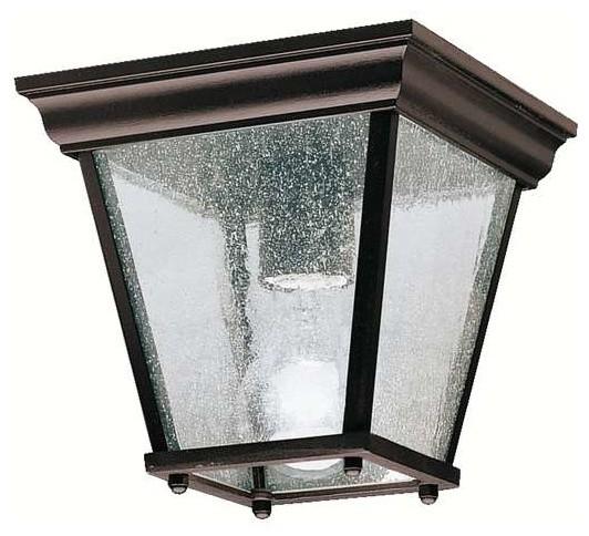 Kichler Lighting 9859BK Transitional Outdoor Ceiling Light ...