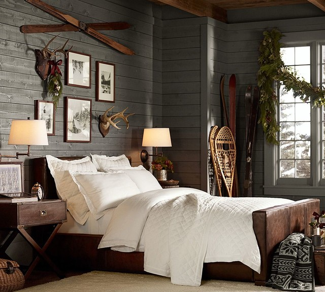 Turner Leather Bed Traditional Beds Sacramento By