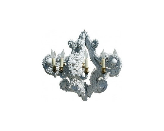 Eco Friendly Furnture and Lighting - Shell Chandelier - Lighted