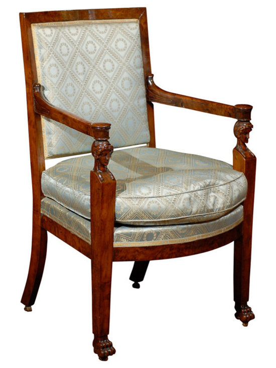 Current Inventory for Purchase - Burled Walnut Empire Chair