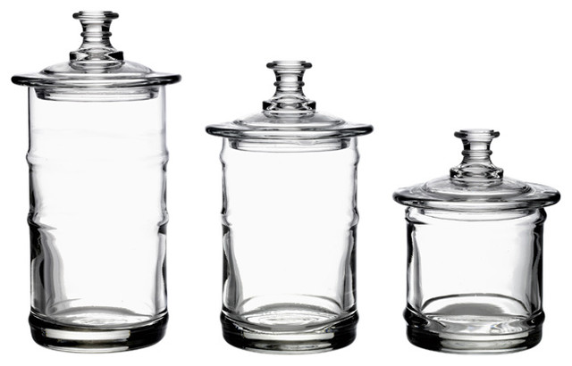 La Rochere French Glass Kitchen Storage Jars Traditional Kitchen Canisters And Jars By
