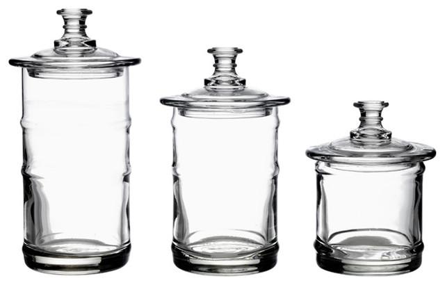 la rochere french glass kitchen storage jars traditional