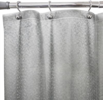 Flecks Embossed Shower Curtain Liner In Grey Contemporary Shower Curtains