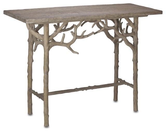 Currey and Company Hayhurst Console Table traditional-side-tables-and-end-tables