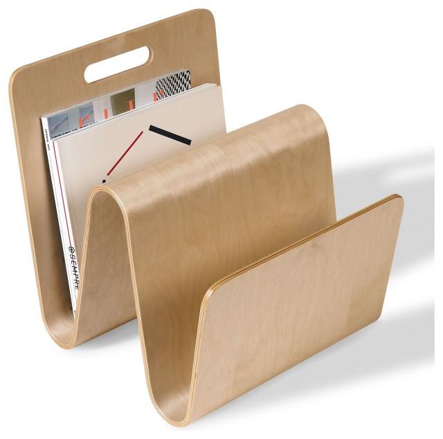 "Offi ""W"" Magazine Stand in Birch contemporary-magazine-racks"