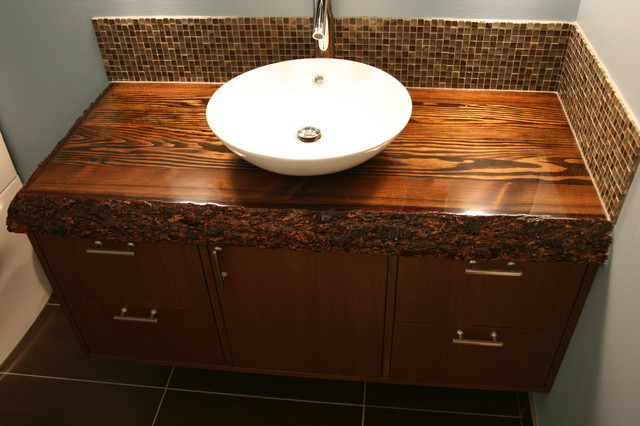 Wood Top Bathroom Vanity