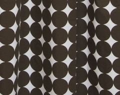 DwellStudio Dots Shower Curtain - Chocolate modern shower curtains