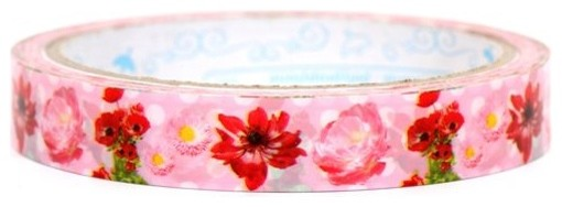 beautiful red poppy flowers Deco Tape Japan home-decor