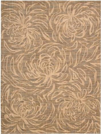 Nourison Radiant Impressions LK09 Area Rug - Beige contemporary-rugs