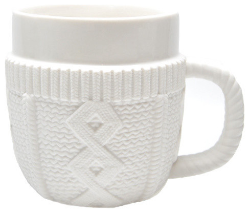 Cable Knit Sweater Mug eclectic dinnerware