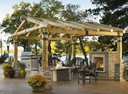 The Montana Pergola rustic-gazebos