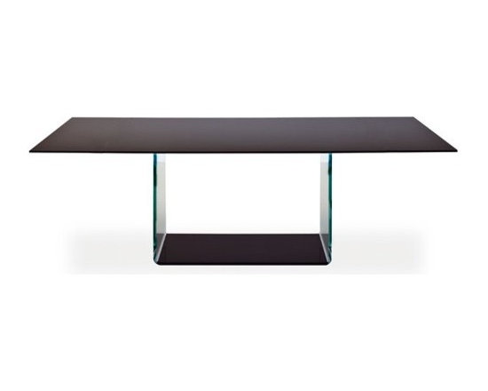Sovet Italia - Sovet Italia | Valencia Clear Glass Dining Table, 98-Inch - Design by Lievore Altherr Molina, 2006.