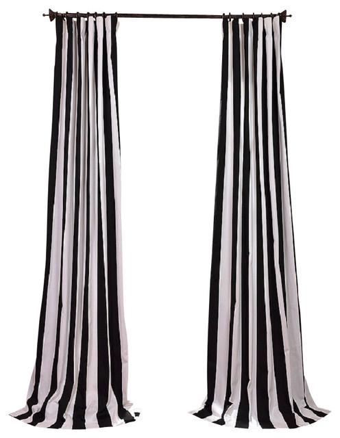 Cabana Black Printed Cotton Curtain contemporary-curtains
