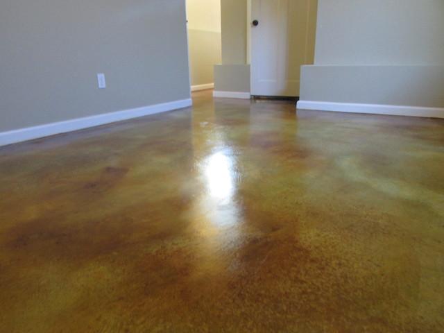 Concrete acid stain modern flooring portland by for Acid wash concrete floors
