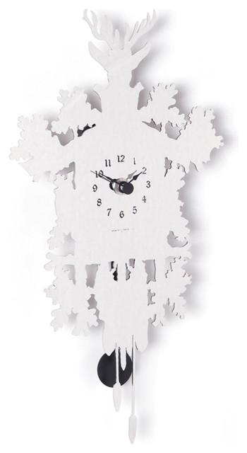 Diamantini & Domeniconi Cucu Mignon Mirror Clock modern-clocks
