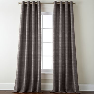 studio origins grommet top curtain panel taupe gray traditional