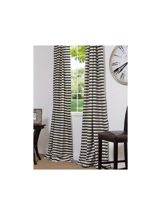 Black & Cream Hand Weaved Cotton Curtains & Drapes -