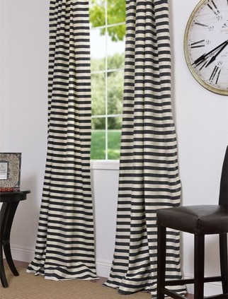 Black & Cream Hand Weaved Cotton Curtains & Drapes eclectic-curtains