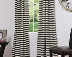 Black & Cream Hand Weaved Cotton Curtains & Drapes eclectic curtains