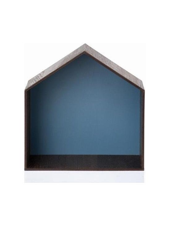 Ferm Living Studio - I'm totally smitten with these whimsical shelves shaped like little houses.