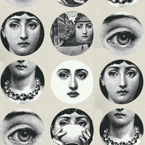 Fornasetti Tema e Variazioni Wallpaper modern-wallpaper