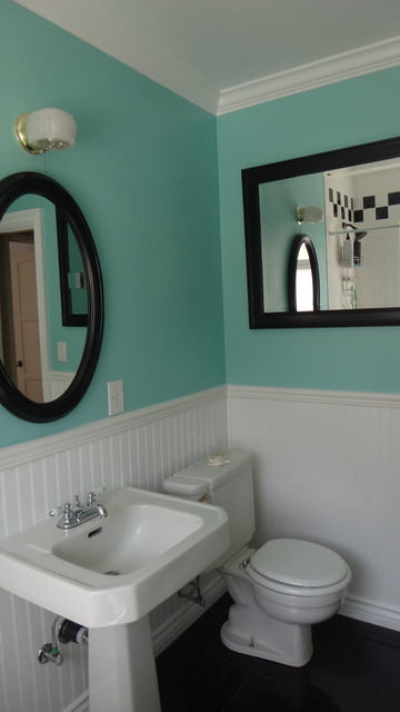 1940 S Bathroom Remodel Old In Yellow New In Blue