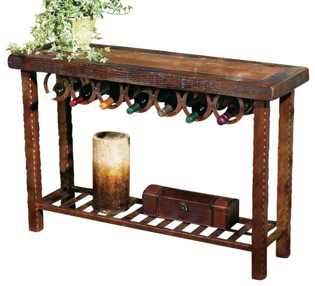 Wine Rack Dining Table: Horseshoe Wine Rack Table