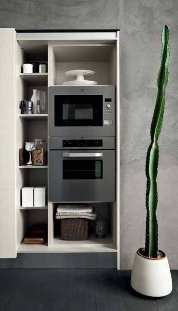 Italian Kitchen Cabinet Organization and Close-up Images contemporary