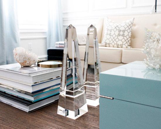 Vintage Decor Accessories - AM Dolce Vita, Decorating with Obelisks, Vintage Crystal Obelisks, Quartz Obelisks