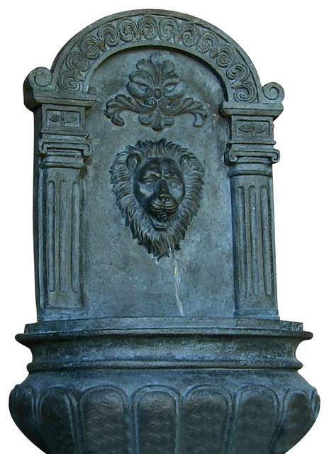 Imperial lion outdoor wall fountain lead contemporary for Imperial home decor