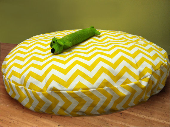 Large Round Zig Zag Chevron Dog Bed with Insert by Maison Boutique modern-dog-beds