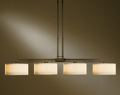 Adjustable Pendant: Trestle Four-Light Down contemporary-chandeliers