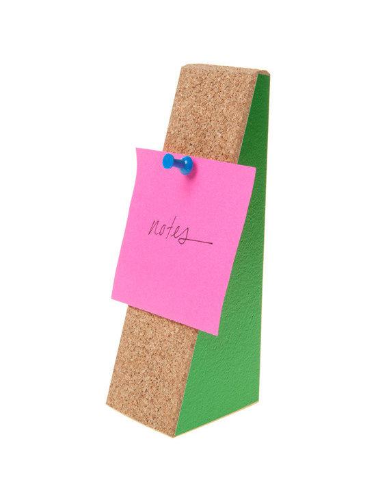 Cork Doorstop + Memo Board -