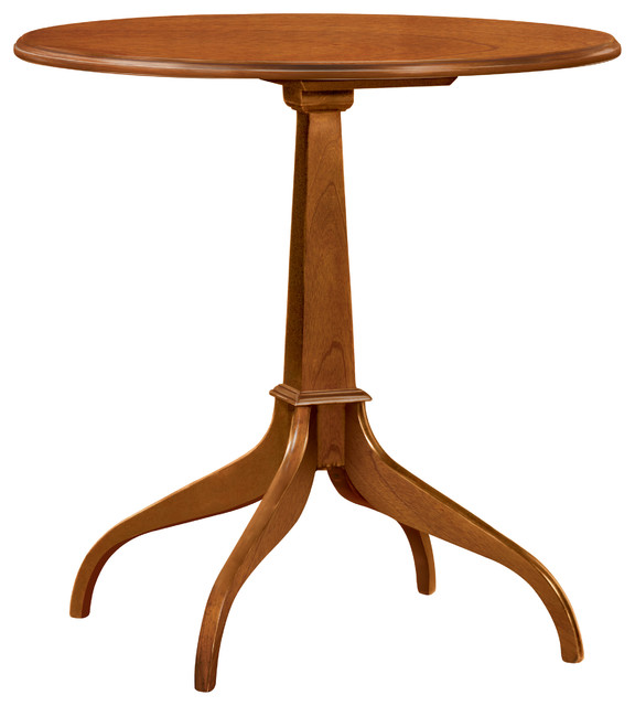 Stickley Round Pedestal Table 4130 traditional-side-tables-and-end-tables