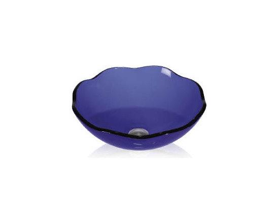 Bathroom sinks - A beautiful blue vessel sink.