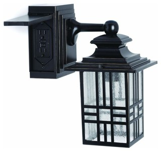Outdoor Wall Mounted Lighting: Hampton Bay Electrical Outlet Plates Mission - Contemporary ...