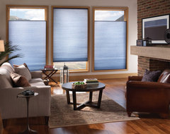 Energy Efficient Honeycomb shades with sidetracks modern-cellular-shades