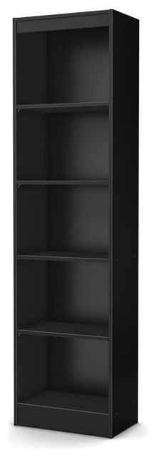 5-Shelf Narrow Bookcase in Black - Contemporary - Bookcases - by ShopLadder