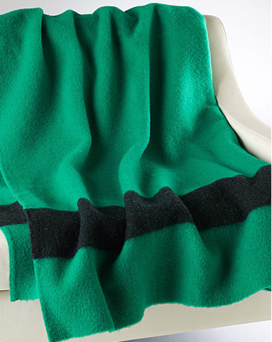 Green Point Blanket traditional-bedding