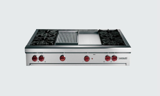 48 Wolf Gas Rangetop Eclectic Cooktops By Sub Zero